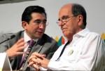 MinTic Diego Molano y el alcalde Rodrígo Guerrero (Fotos Alcaldía)